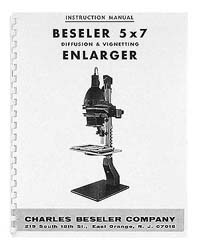 Beseler 5x7 Diffusion Enlarger Instruction Manual