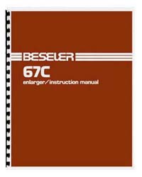 Beseler 67C & 67C-XL (late model) Enlarger Instruction Manual