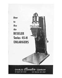 Beseler 45H 4x5 Enlarger Instruction Manual