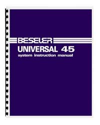 Beseler Universal 45 System Instruction Manual