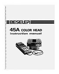 Beseler 45A Color Head Instruction Manual