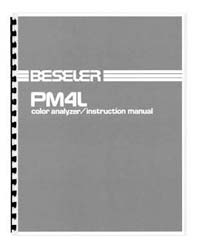 Beseler PM4L Color Analyzer Instruction Manual