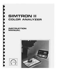 Omega Simtron II Color Analyzer Instruction Manual