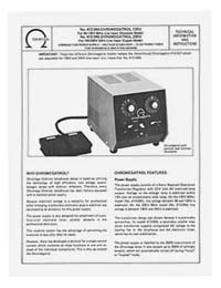 Omega Chromegatrol Instruction Manual - Model 412-037