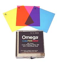 "Omega 25-piece 3"" x 3"" Color Printing Filter set"