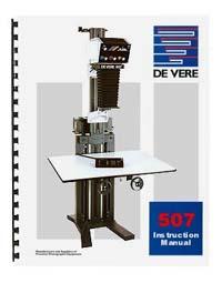 De Vere / DeVere 507 5x7 Enlarger Instruction Manual