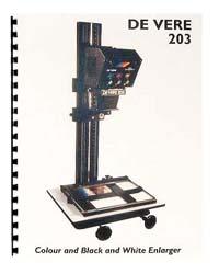 De Vere / DeVere 203 Enlarger Instruction Manual