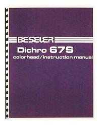 Beseler Dichro 67S Colorhead Instruction Manual
