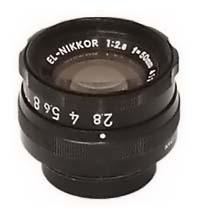 EL-Nikkor 50mm f2.8 Enlarging Lens for 35mm Negatives - Used