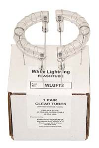 Flashtubes for White Lightning Ultra - non-UV, plain wire leads