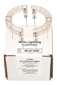 Flashtubes for White Lightning Ultra - UV-coated, plain wire leads