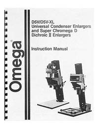 Omega D5V / D-5 Dichroic Enlarger Instruction Manual