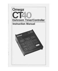 Omega CT40 Darkroom Timer/Controller Instruction Manual