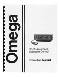 Omega CS-50 Auto Exposure Control Instruction Manual