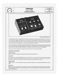 Omega #461-016 Digital Timer Instruction Manual