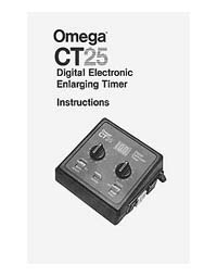 Omega CT25 Digital Enlarging Timer Instruction Manual