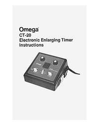 Omega CT-20 Enlarging Timer Instruction Manual