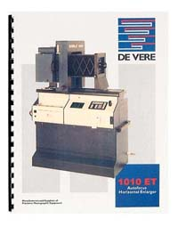 De Vere / DeVere 1010 ET Enlarger Instruction Manual