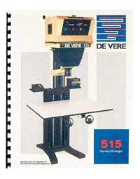 De Vere / DeVere 515 12x15 Enlarger Instruction Manual