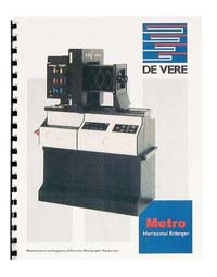 De Vere / DeVere Metro Enlarger Instruction Manual