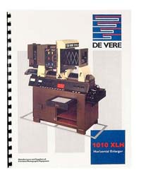 De Vere / DeVere 1010XLH Enlarger Instruction Manual
