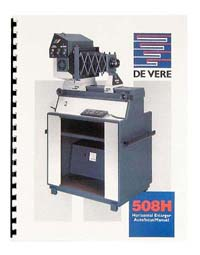 De Vere / DeVere 508H Enlarger Instruction Manual