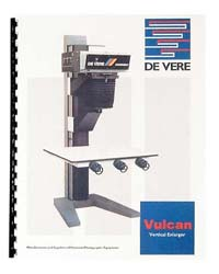De Vere / DeVere Vulcan 10x10 Enlarger Instruction Manual