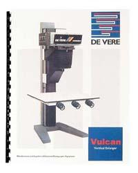 De Vere / DeVere Vulcan 10x10 Enlarger Instruction Manual