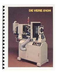 De Vere / DeVere 810H Horizontal Enlarger Instruction Manual