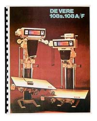 De Vere / DeVere 108S & 108A/F Enlarger Manual