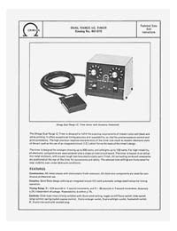 Omega #461-019 Dual Range IC Timer Instruction Manual
