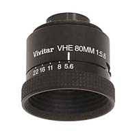 Vivitar VHE 80mm f5.6 Enlarging Lens for 6x6cm Negatives - Used